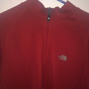 North Face exercise zip shirt